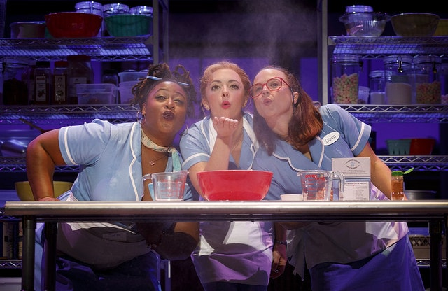 From left: Charity Angel Dawson, Desi Oakley and Lenne Klingaman in the National Tour of Waitress. Credit Joan Marcus
