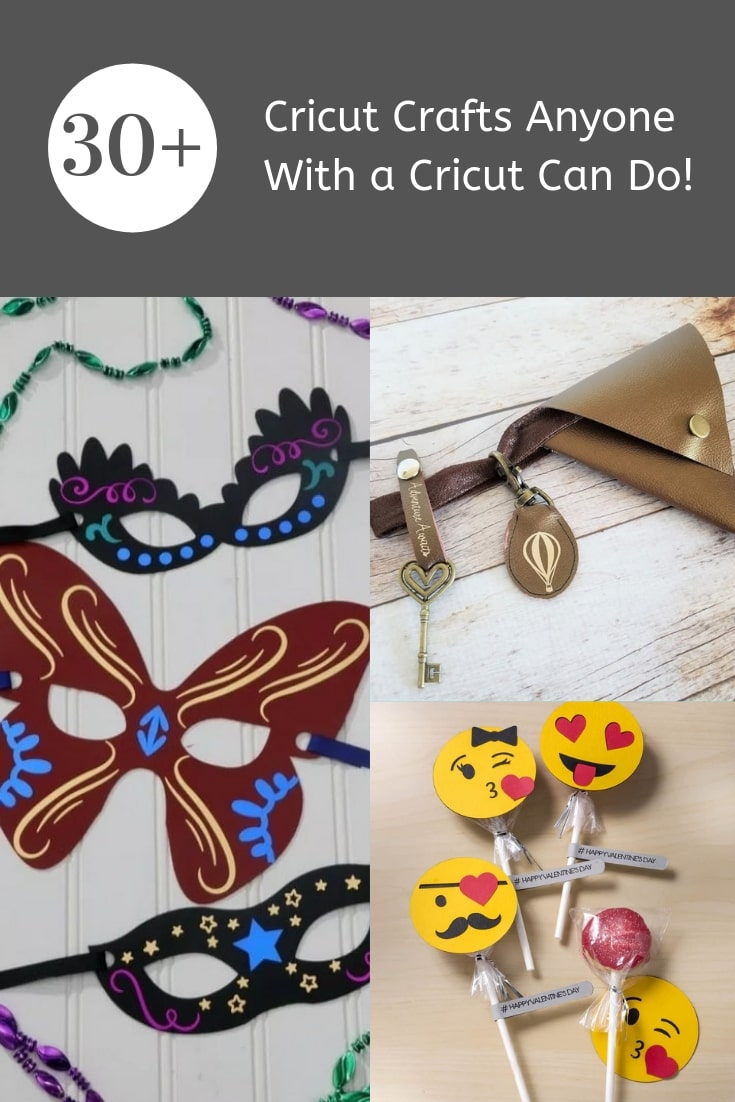 Looking for some Cricut Crafts inspiration? Check out this fun roundup post featuring 30 Cricut Crafts anyone with a Cricut can do!