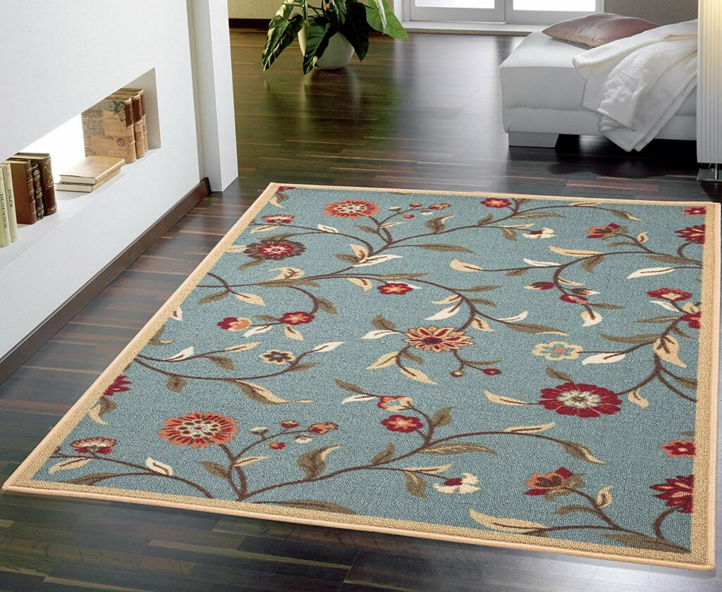 Area Rugs Ottomanson Floral Print