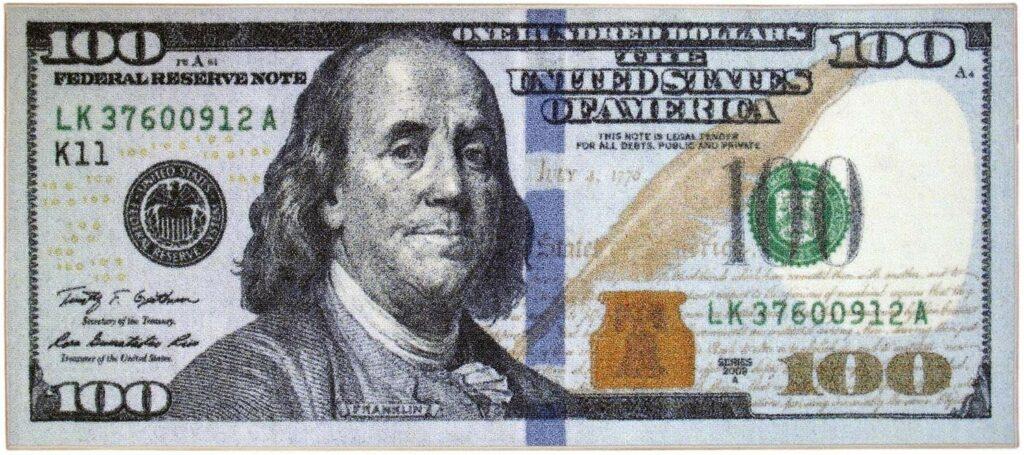 Area Rugs Ottomanson Hundred Dollar Bill