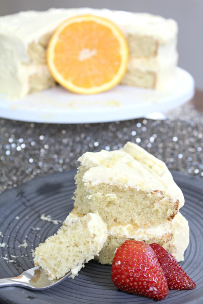 boxed cake remixed - orange vanilla cake vertical