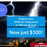 Massive Savings for New Ghostwriting Clients Black Friday through Cyber Monday!