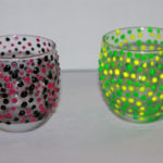 Puffy Paint Candle Holders