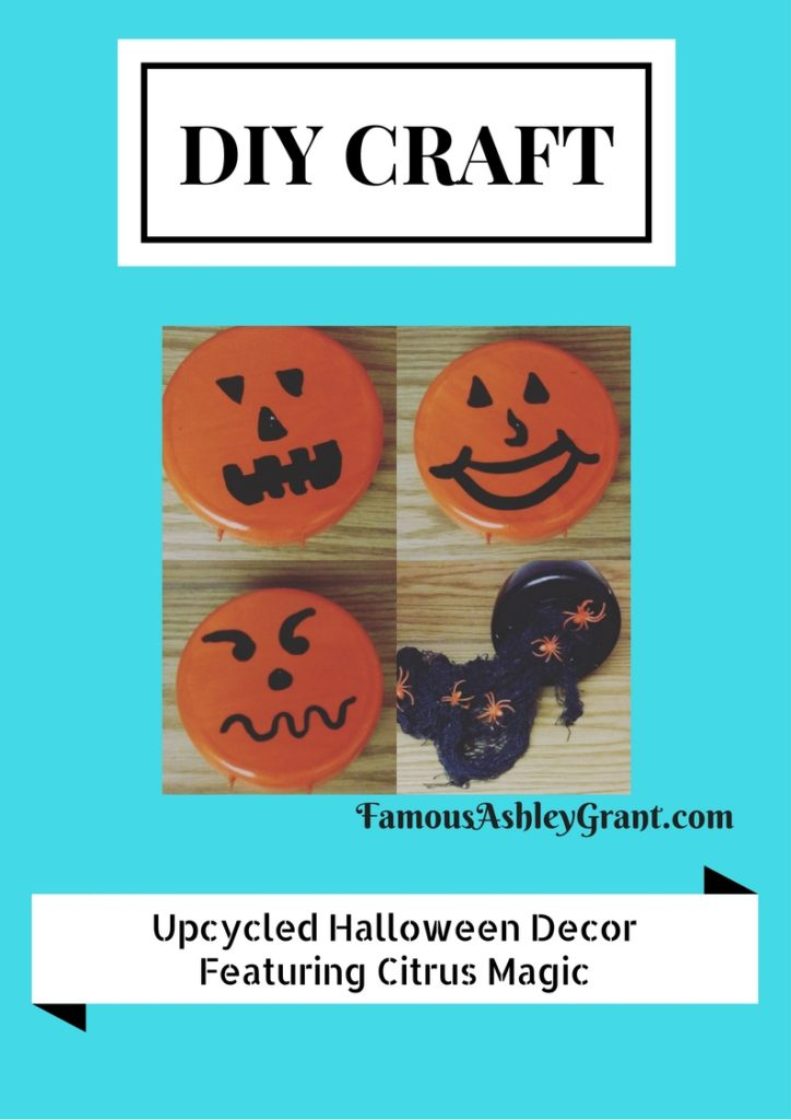 I used Citrus Magic Solid Air Freshener Containers to make some fun Halloween Decor. I love upcycled craft projects!