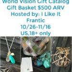 World Vision's Gift Catalog Gift Basket Giveaway Through 11/16/17!