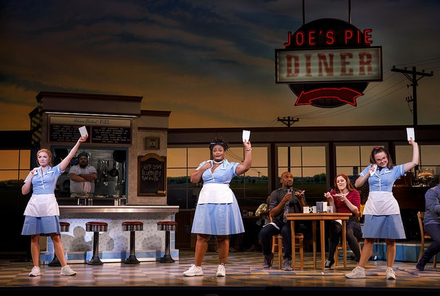 Desi Oakley, Charity Angel Dawson and Lenne Klingaman in the National Tour of WAITRESS – Photo Credit Joan Marcus