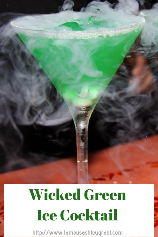 This drink is so good, it's WICKED! If you are looking for a tasty Halloween cocktail, you have to try this Wicked Green Ice Cocktail!