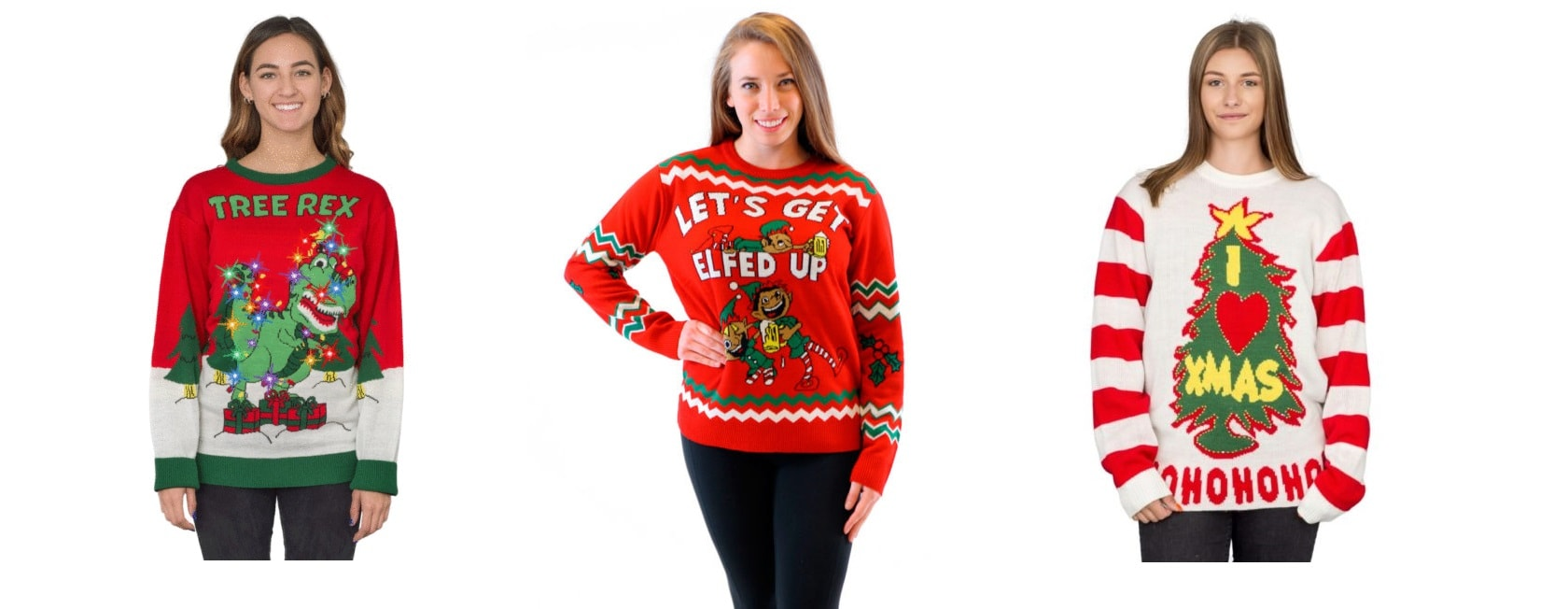 For all your Ugly Christmas Sweater needs, I recommend uglychristmassweater.com
