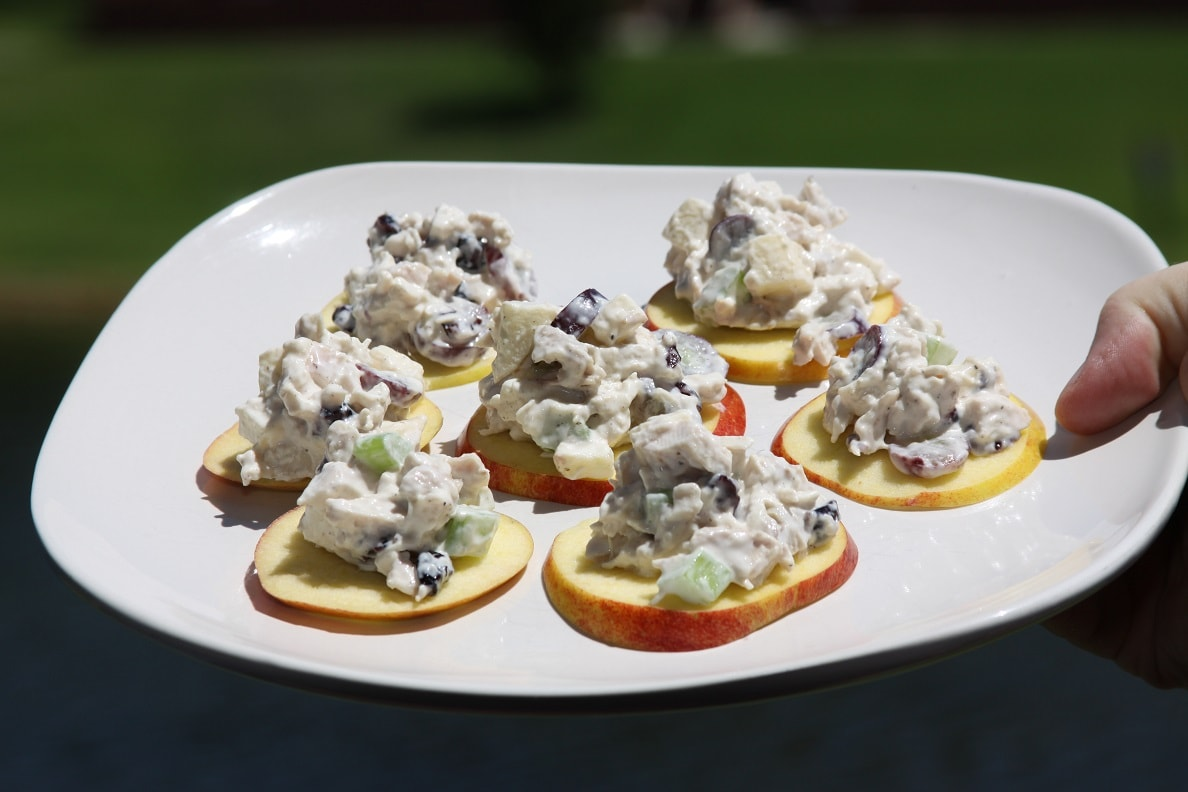 Cran-Apple Chicken Salad Appetizer Plated
